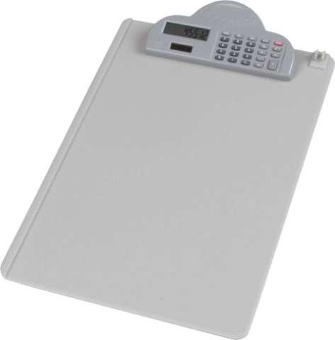 """Clipboard """"Podkładka A4 z kalkulatorem"""", szary, Deli 9259"""