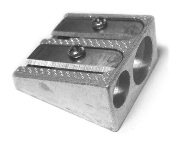 Temperówka Metalic - podwójna aluminium D.RECT