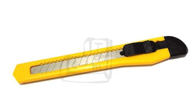 Nóż Do tapet plastikowy żółty D.RECT 9 mm