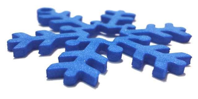 Ozdoba PG002 PVC 2 mm płatki śniegu MIX niebieskie