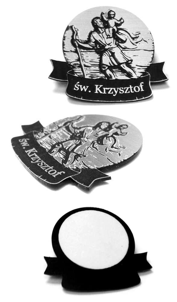Emblemat Św. Krzysztof 37x33