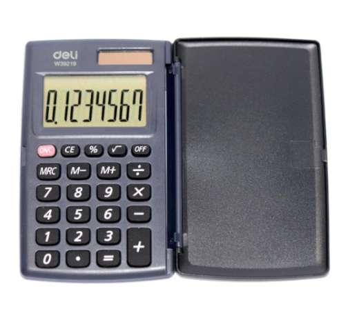 Kalkulator Kieszonkowy z klapką czarny DELI W39219