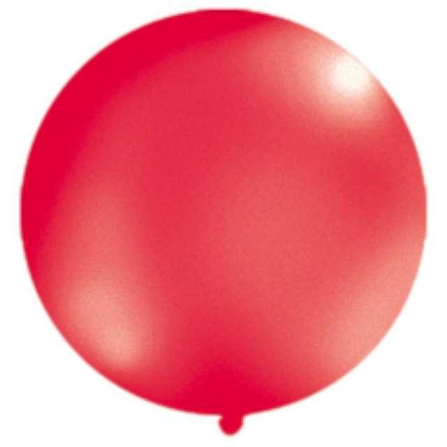 Balon 1 metr okrągły metalik czerwony 1szt.