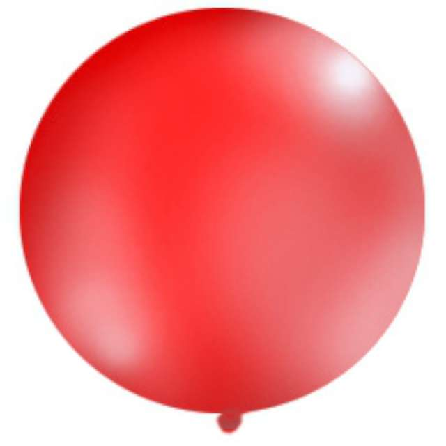 Balon 1 metr pastel meks okrągły czerwony 1szt