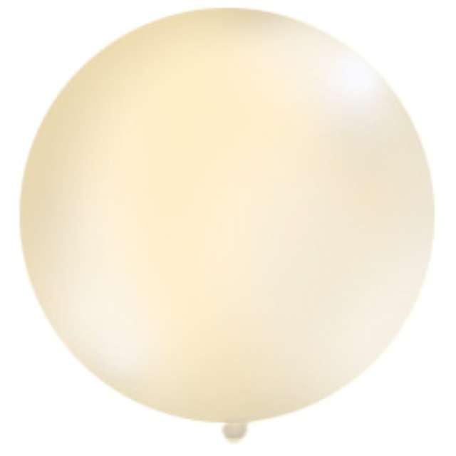 Balon 1 metr pastel meks okrągły kremowy 1szt.