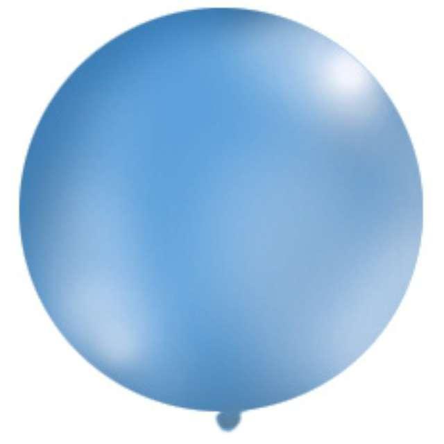 Balon 1 metr pastel meks okrągły niebieski1szt