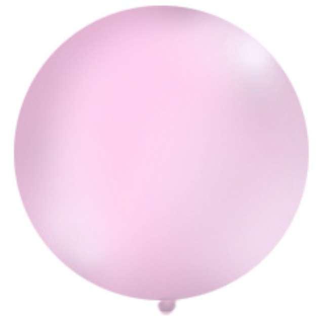 Balon 1 metr pastel meks okrągły różowy 1szt.