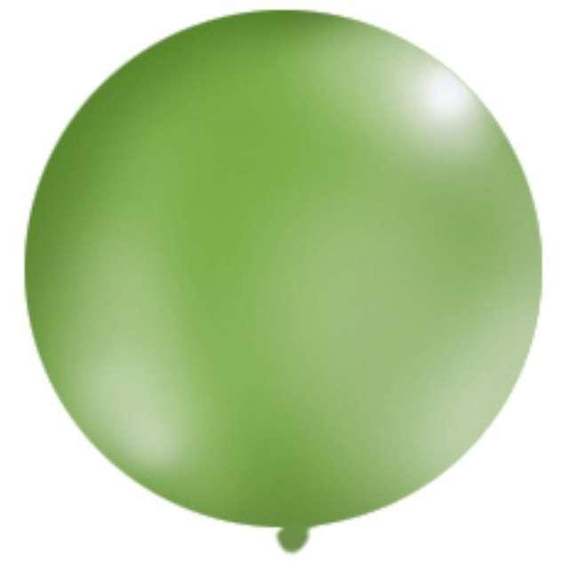 Balon 1 metr pastel meks okrągły zielony 1szt.