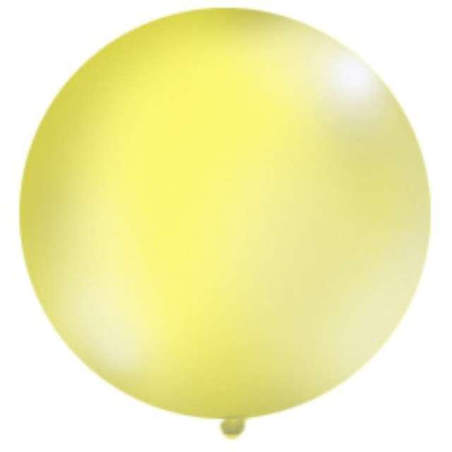 Balon 1 metr, pastel meks okrągły, żółty, 1 szt.