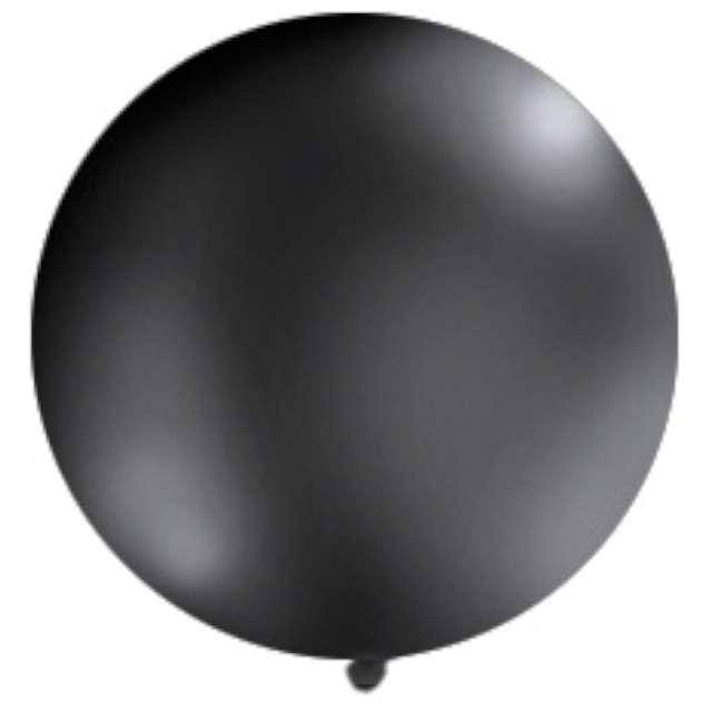 Balon 1 metr pastel meks. okrągły czarny 1szt.