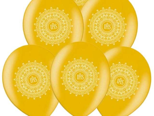 Balony 14 IHS BELBAL Metallic Gold 50szt
