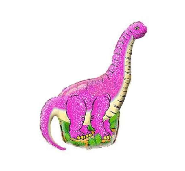 "Balon foliowy 14"" Dinozaur Diplodocus różowy"