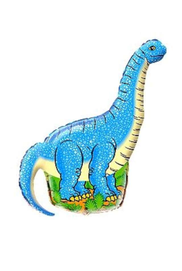 Balon foliowy 14 Diplodocus niebieski 1szt
