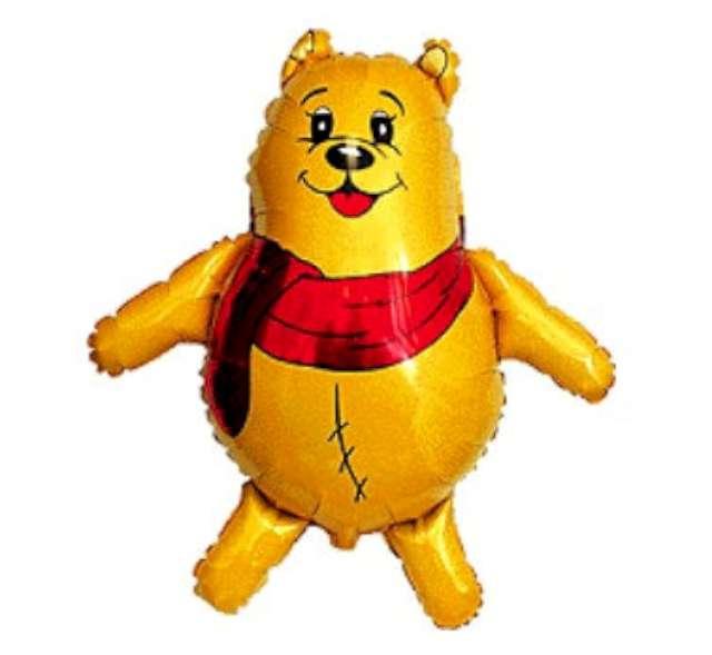 "Balon foliowy 14"" Scarf Bear - Puchatek"