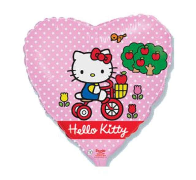 "Balon foliowy 18"" Hello Kitty na rowerku, 1 szt."