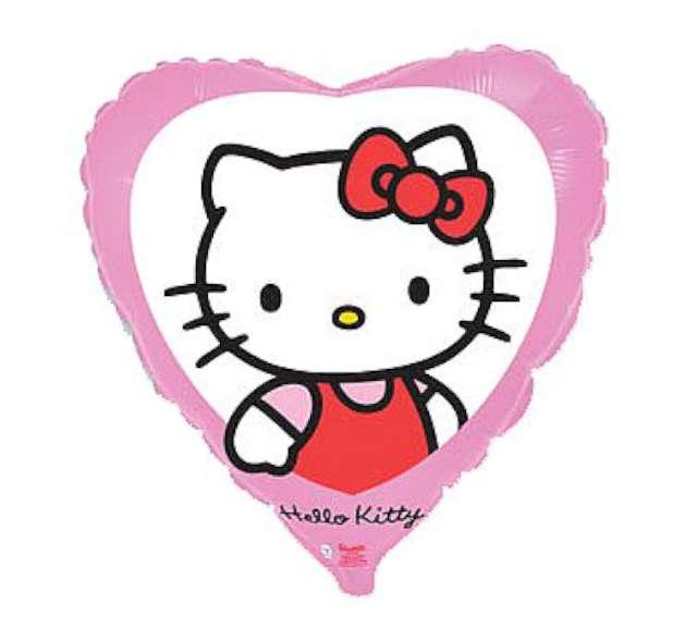 """Balon foliowy 18"""" Hello Kitty w okienku, 1 szt."""