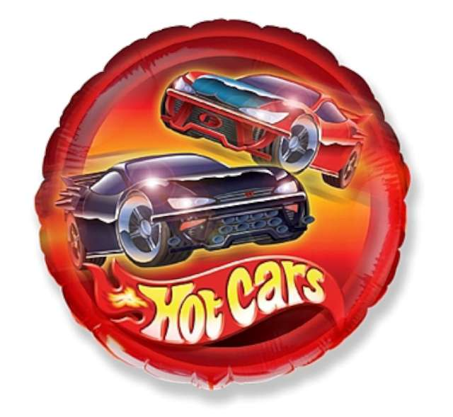 "Balon foliowy ""Hot Cars"", FLEXMETAL, 18"" RND"