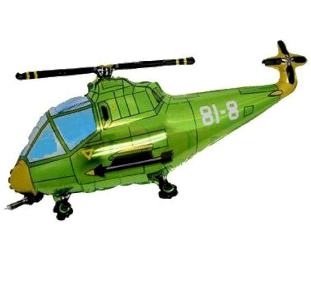 """Balon foliowy """"Helikopter"""", zielony, FLEXMETAL, 24"""" SHP"""