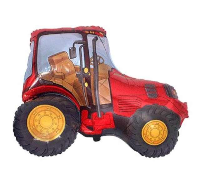 """Balon foliowy """"Traktor"""", czerwony, FLEXMETAL, 24"""" SHP"""