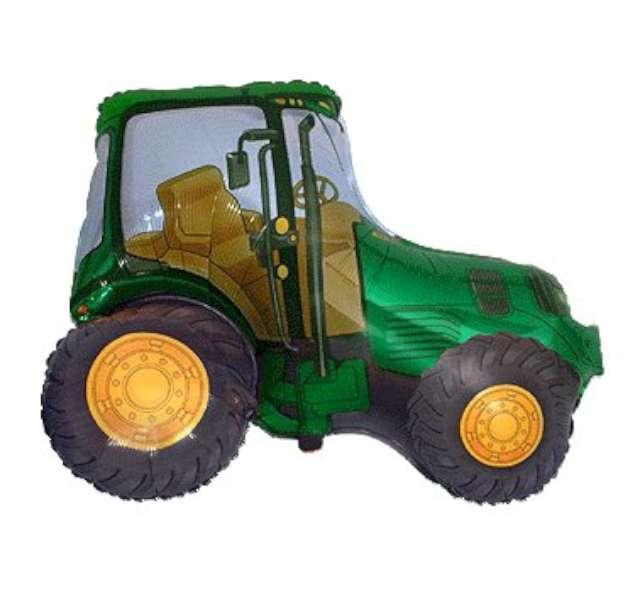 """Balon foliowy """"Traktor"""", zielony, FLEXMETAL, 24"""" SHP"""