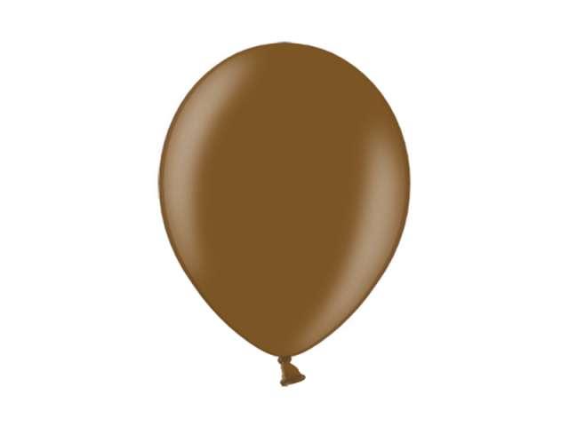 """Balony 10"""" Metalik BELBAL Mustang Brown 100 szt"""