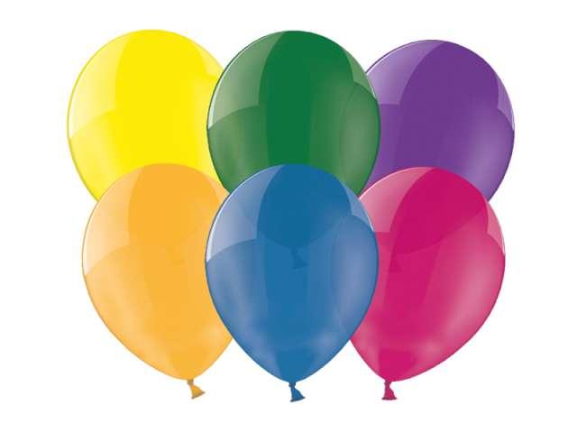 """Balony 12"""" Crystal BELBAL mix 100 szt"""