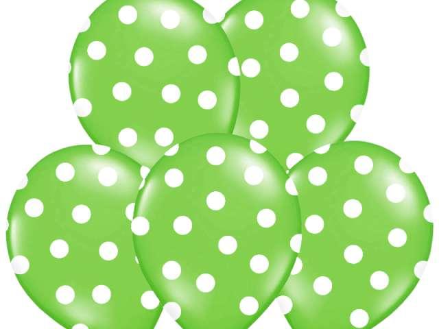 "Balony 14"", ""Kropki"" Pastel Apple Green, BELBAL, 50 szt"