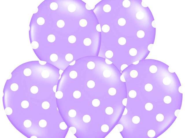 "Balony 14"", ""Kropki"" Pastel Lavender, BELBAL, 50 szt"