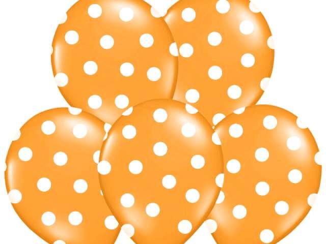 "Balony 14"", ""Kropki"" Pastel Orange, BELBAL, 50 szt"