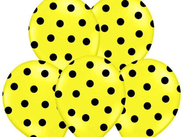"Balony 14"", ""Kropki"" Pastel Yellow, BELBAL, 50 szt"