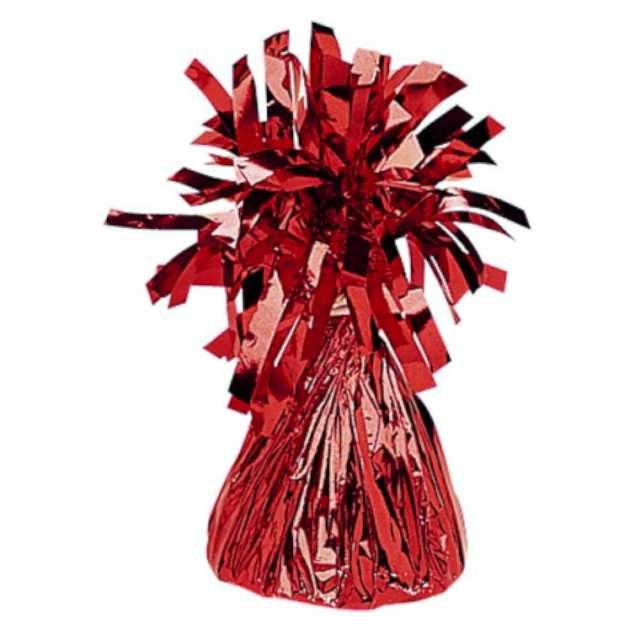 Obciążnik do balonów, foliowy, czerwony, AMSCAN