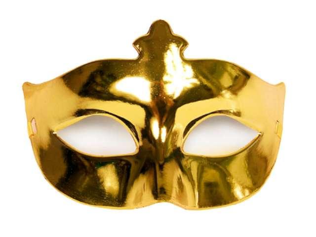 Maska karnawałowa, złota