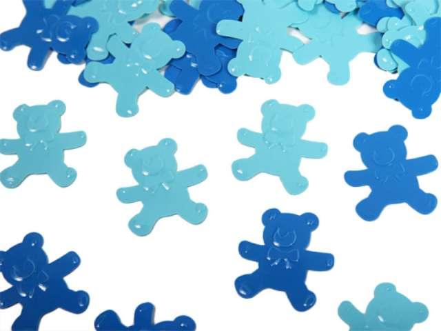 """Konfetti """"Misie"""", niebieskie/błękitne, 15 g. 1 op."""