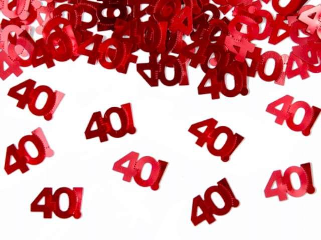 """Konfetti metalizowane """"40"""", 15 g, 1 op."""