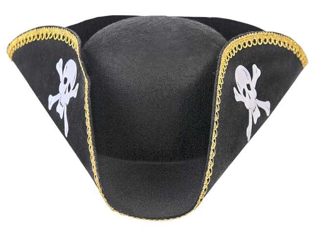 Czapka pirata, czarna