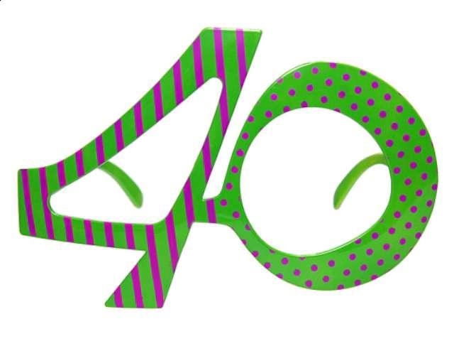 """Okulary party """"Urodziny 40"""""""