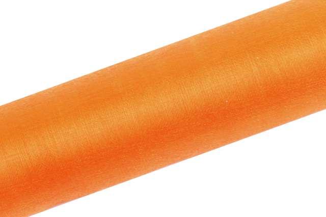 Organza gładka, pomarańczowa, 0,16x9 m