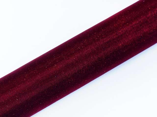 Organza glittery, bordowy, 0,36x9 m, 1 szt.