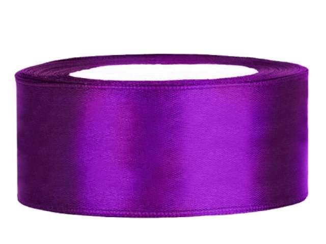 Tasiemka satynowa, purpurowa, 25 mm / 25 m
