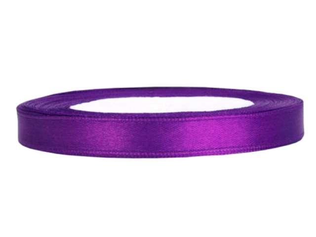 "Tasiemka satynowa ""Classic"", purpurowa, PartyDeco, 6 mm / 25 m"