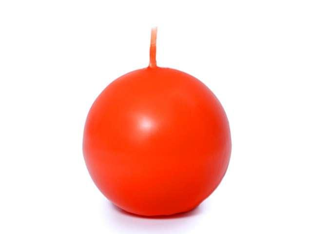 """Świeca """"Kula"""" (FI 60) matowa, pomarańczowa, 10szt."""