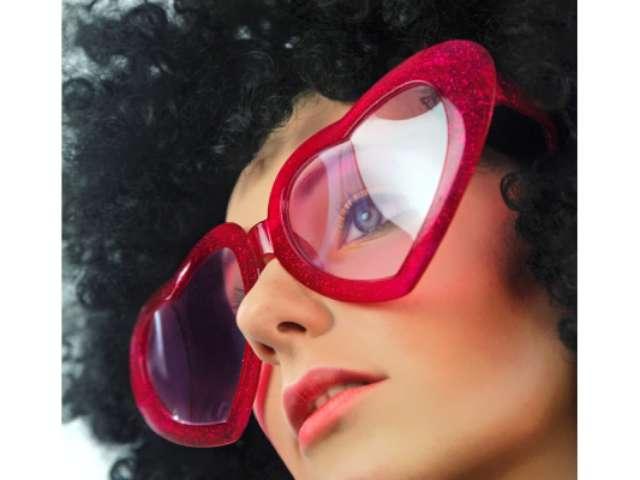 """Okulary party """"Mega serca"""", czerwone"""