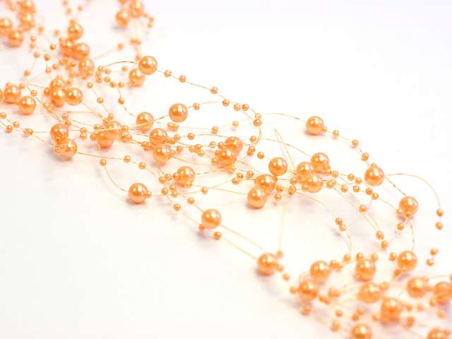 Girlandy perłowe, pomarańcz, 1,3m, 1op.