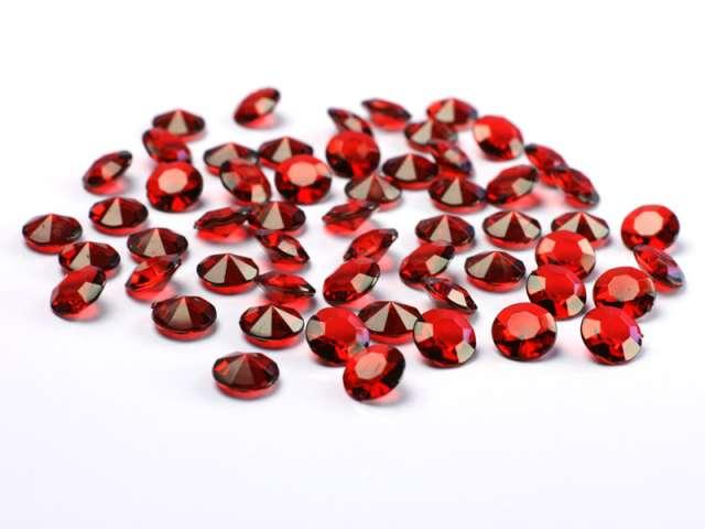 Diamentowe konfetti, 12mm, bordo, 100szt, 1op