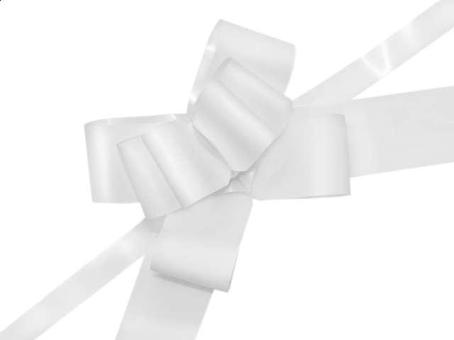 """Wstążka ściągana """"Classic 5 cm"""", PartyDeco, biała malowana, 10 szt"""