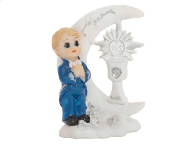 """Figurka na tort """"I Komunia Św. chłopiec"""", 9 cm"""