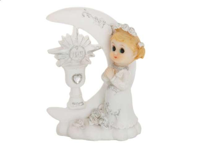 """Figurka na tort """"I Komunia Św. dziewczynka"""", 9 cm"""