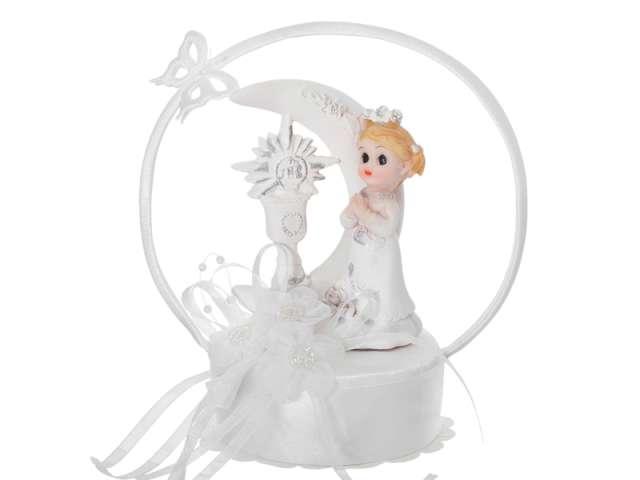 """Figurka na tort """"I Komunia Św. dziewczynka"""", 15 cm"""