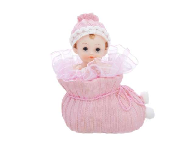 Figurka Dziewczynka w różowym bucie, 10,5cm, 1szt.