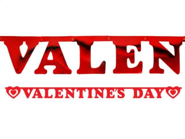 """Baner """"Valentines day"""", czerwony, 2 m"""